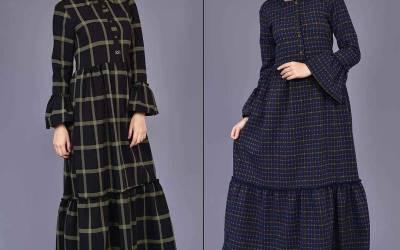Tesettür Ekoseli Kıyafet Modelleri