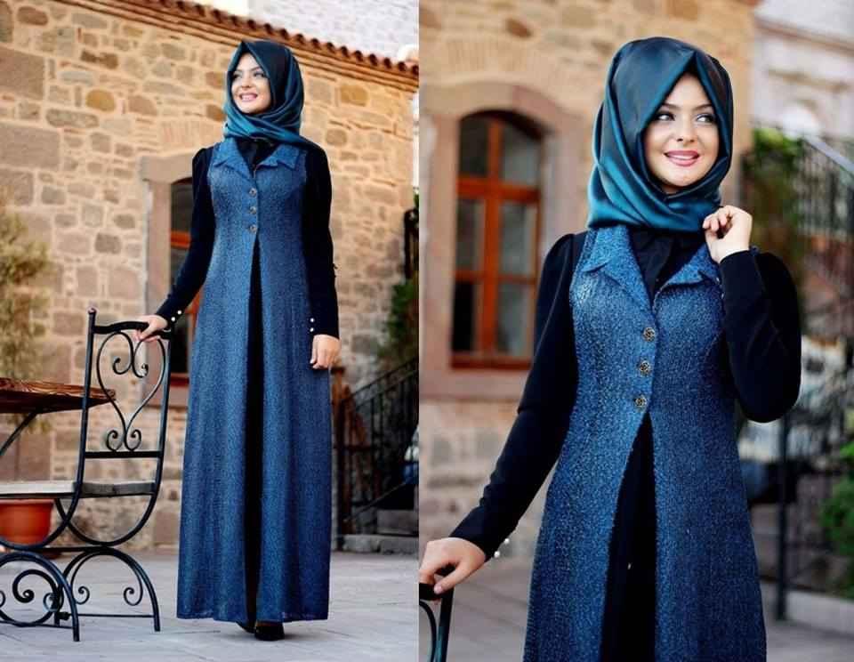 2017 Mavi Tesettür Giyim Modelleri