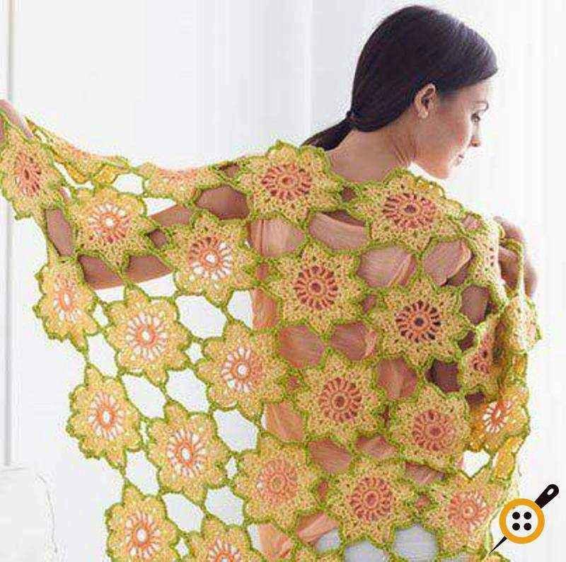 çiçek motifli omuz şal modelleri