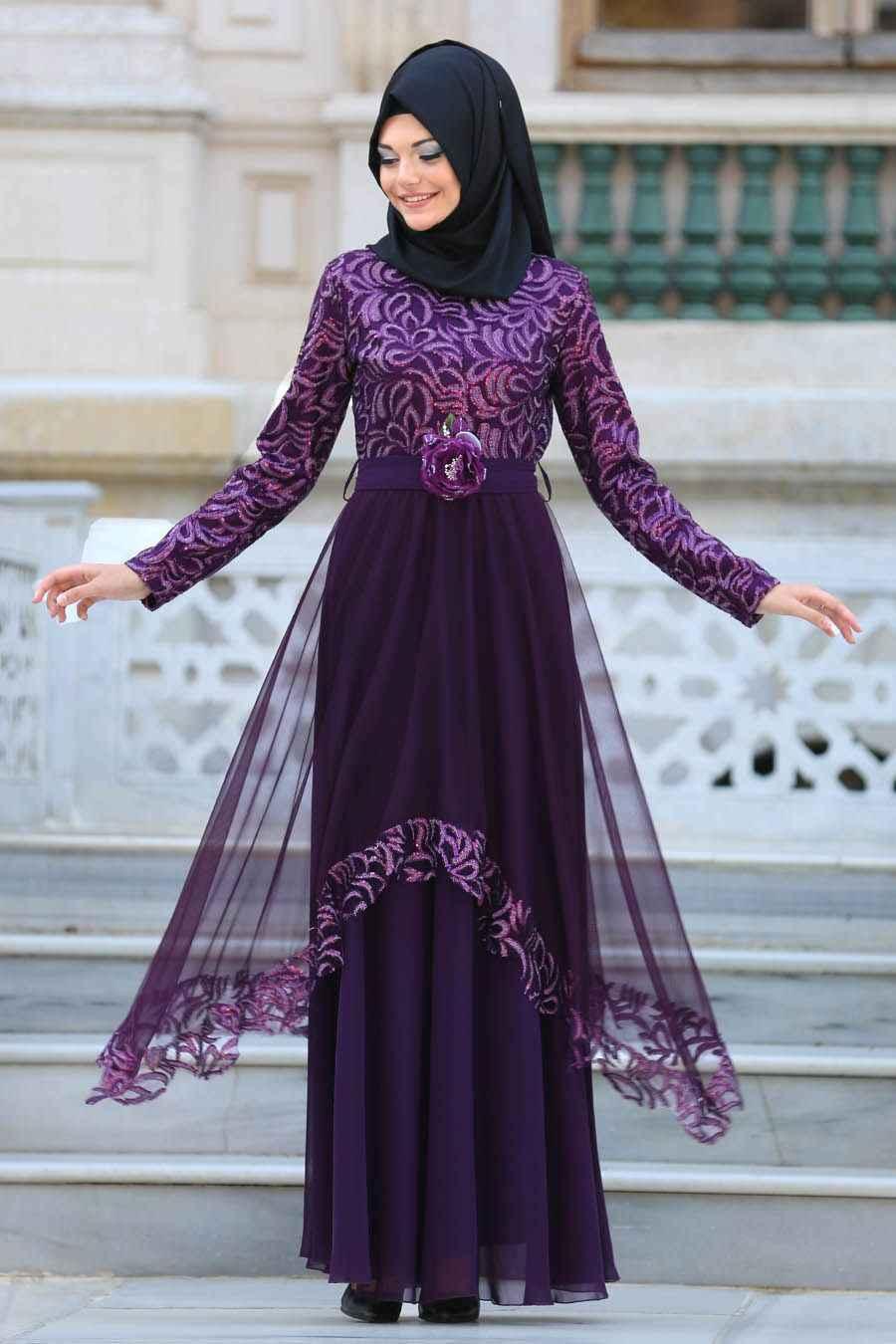 be9a346a8f557 çok şık tesettür mezuniyet elbise modelleri - Moda Tesettür Giyim
