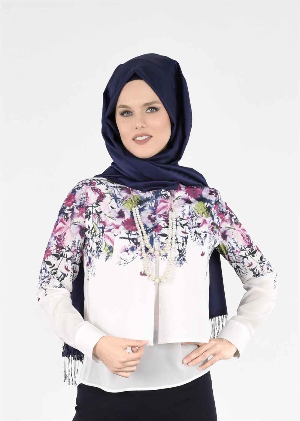 2018 Çiçek Desenli Bluz Modelleri