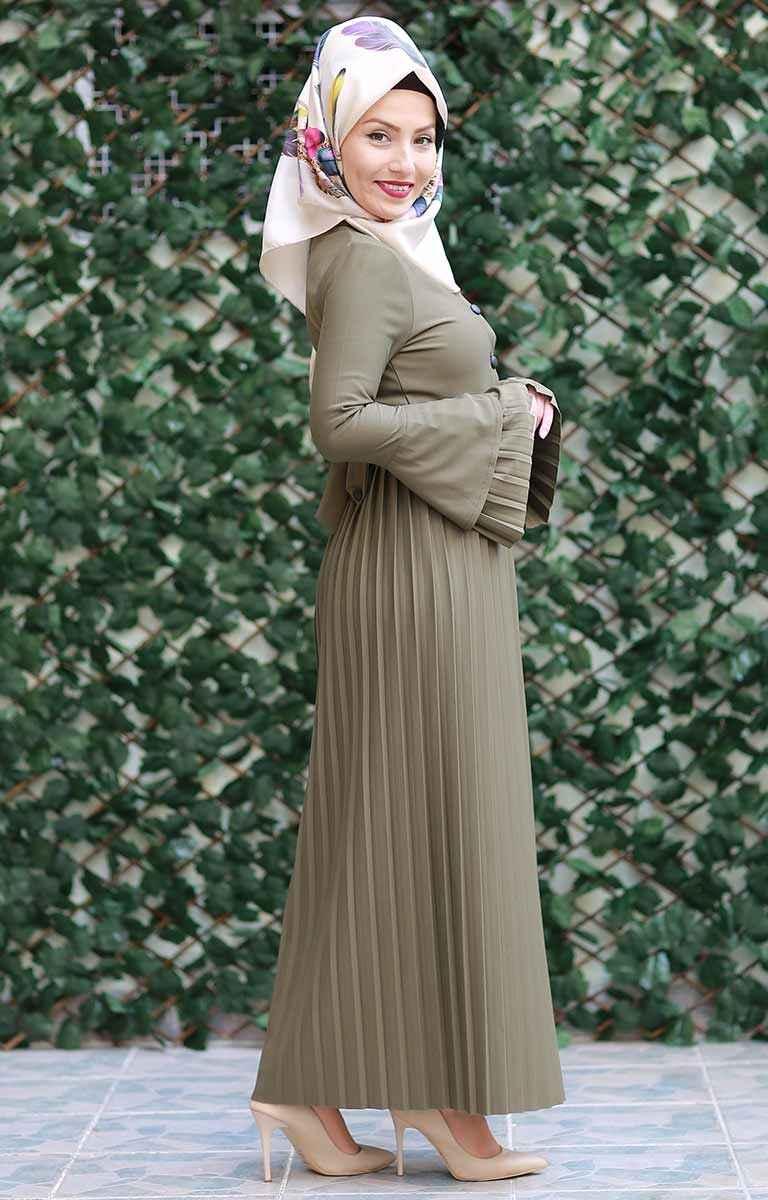 2018 En Şık Tesettür Elbise Modelleri
