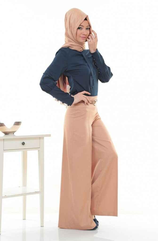 2018 Modern Tesettür Pantolon Modelleri