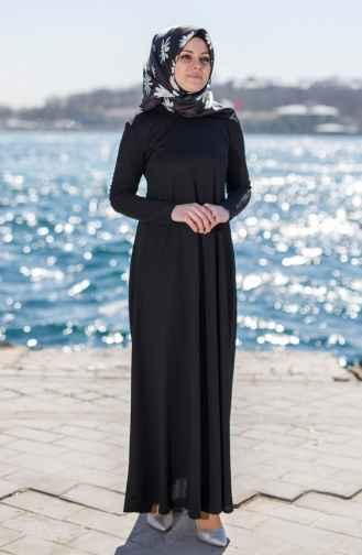 2018 Siyah Tesettür Elbise Modelleri