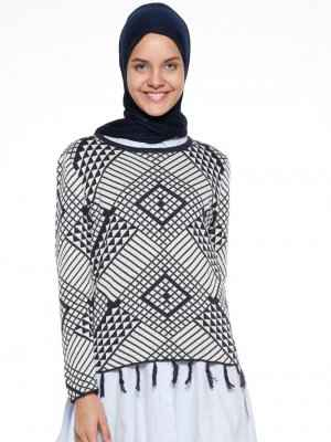 En Moda Tesettür Kazak Modelleri