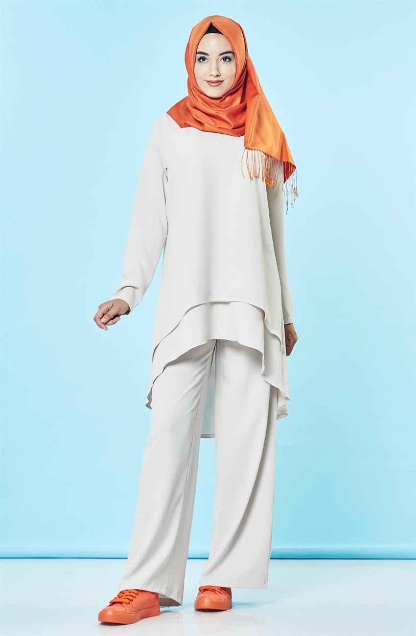 En Modern Tesettür Pantolon Kombini Modelleri