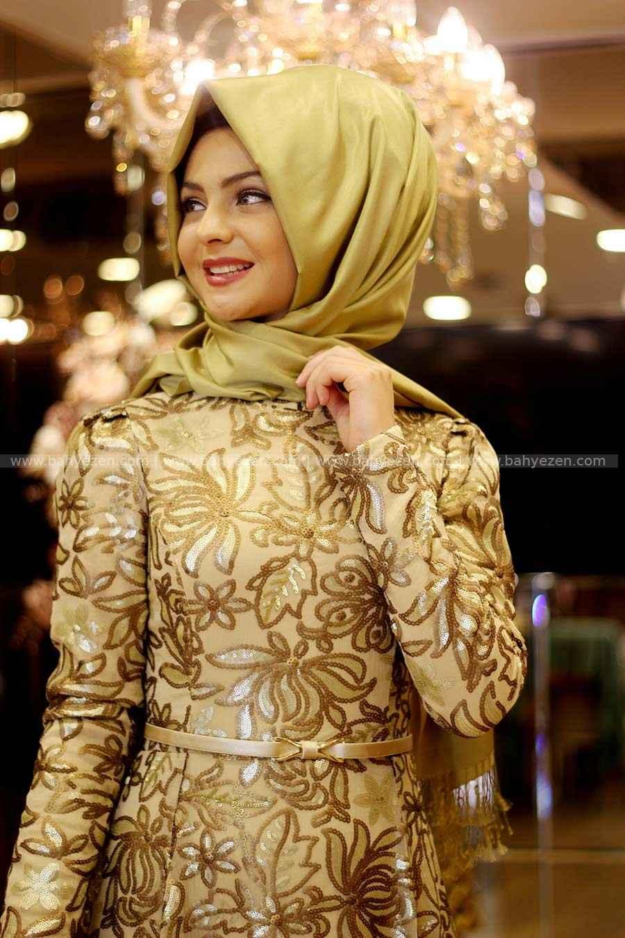 Gold Tesettür Elbise Modelleri