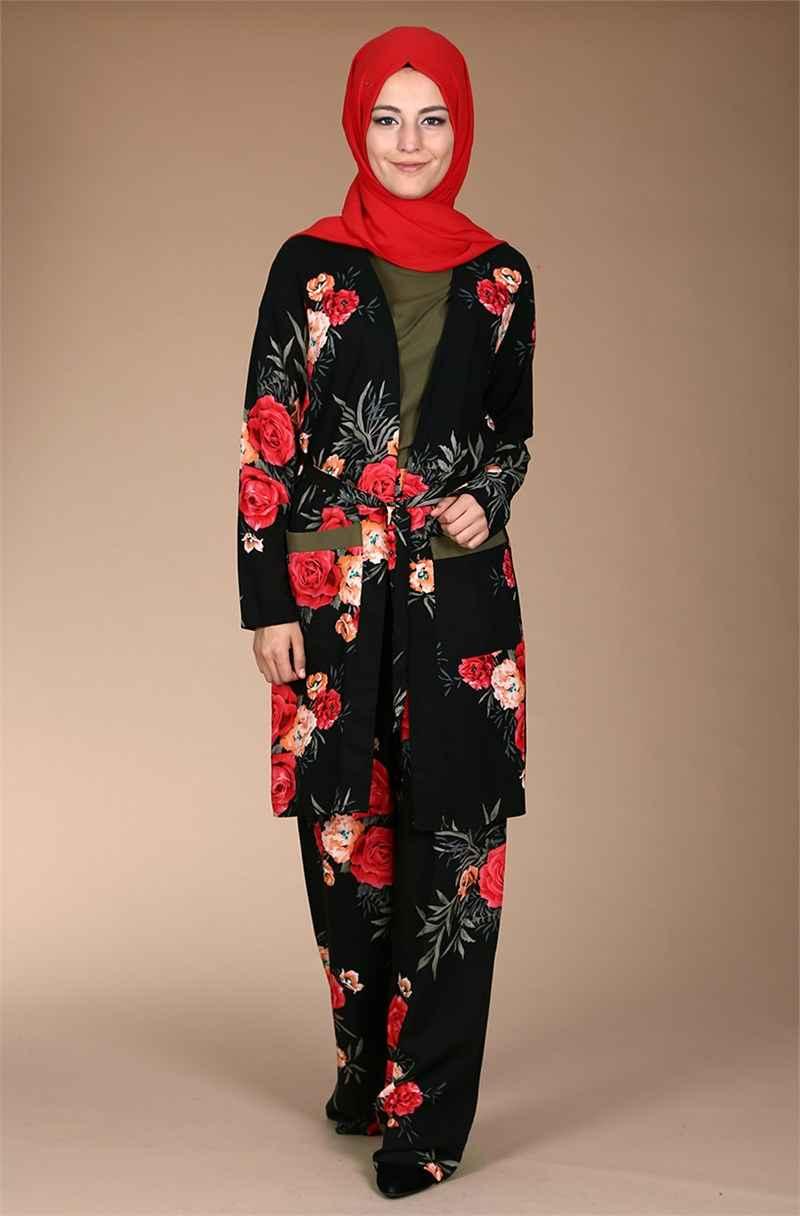 Moda Tesettür Pantolonlu Takım Modelleri2
