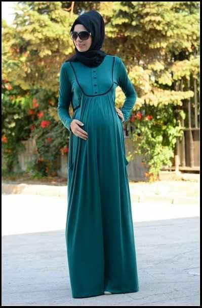 Modern Tesettür Hamile Giyim Modelleri