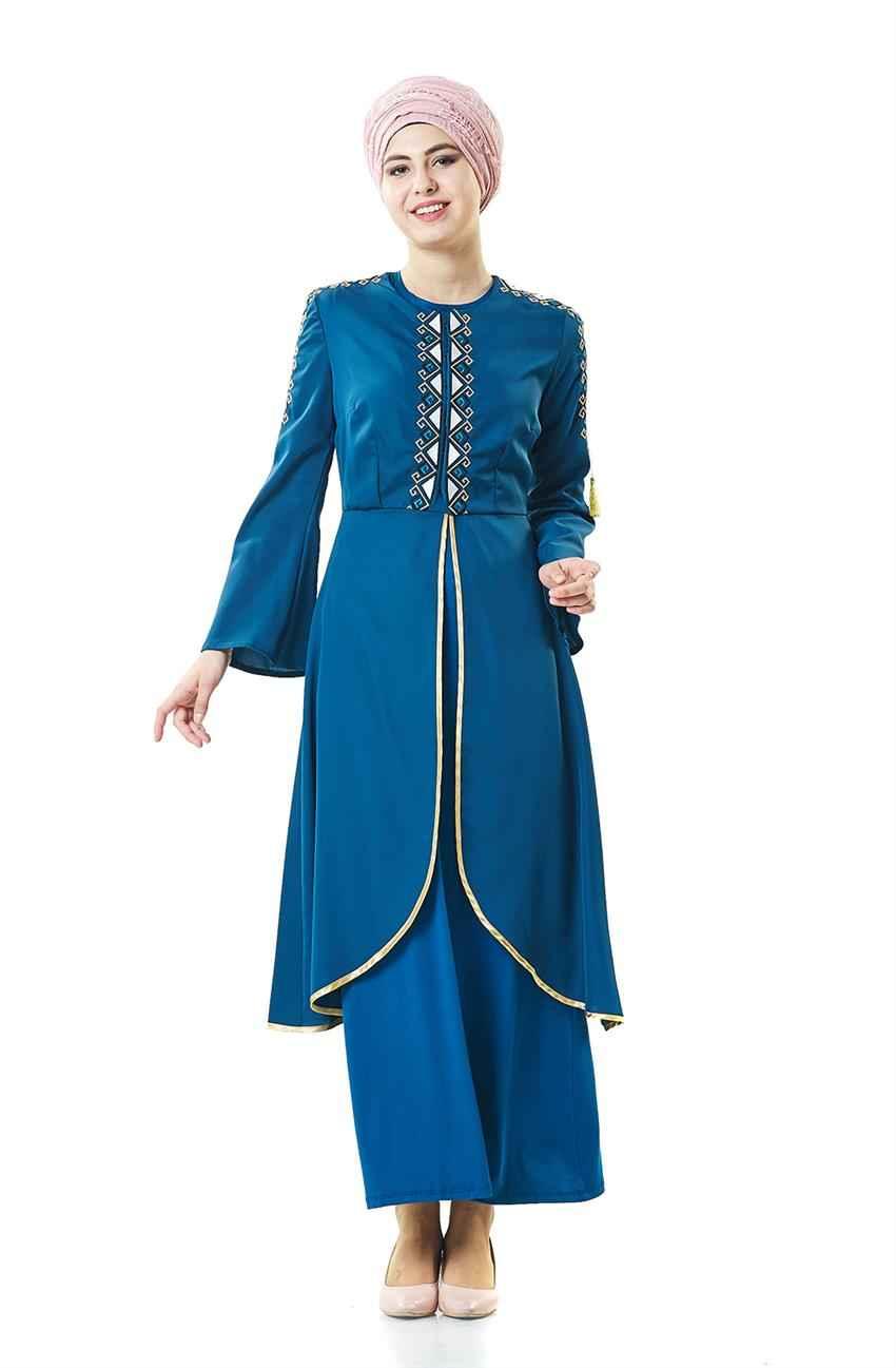 Ottoman Tesettür Pantolonlu Takım Modelleri