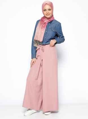 Pink Tesettür Pantolon Modelleri