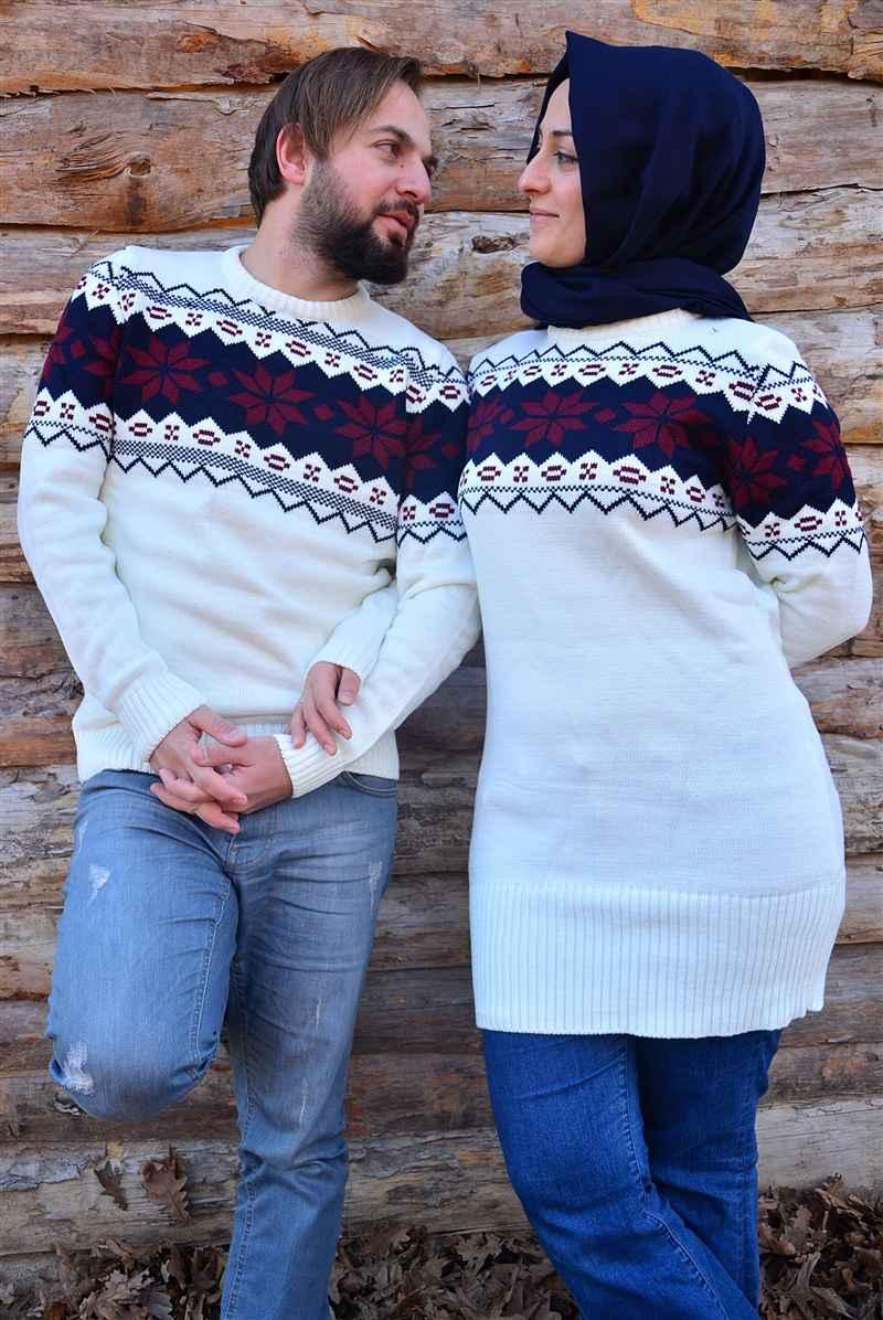 Sevgili Tesettür Kazak Modelleri