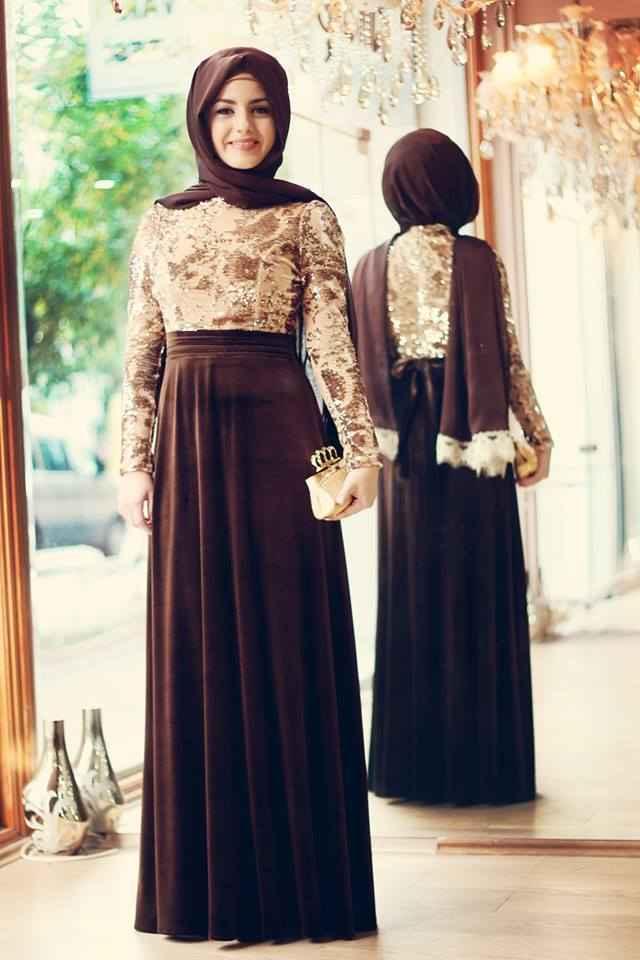 abiye tesettür mezuniyet elbise modelleri