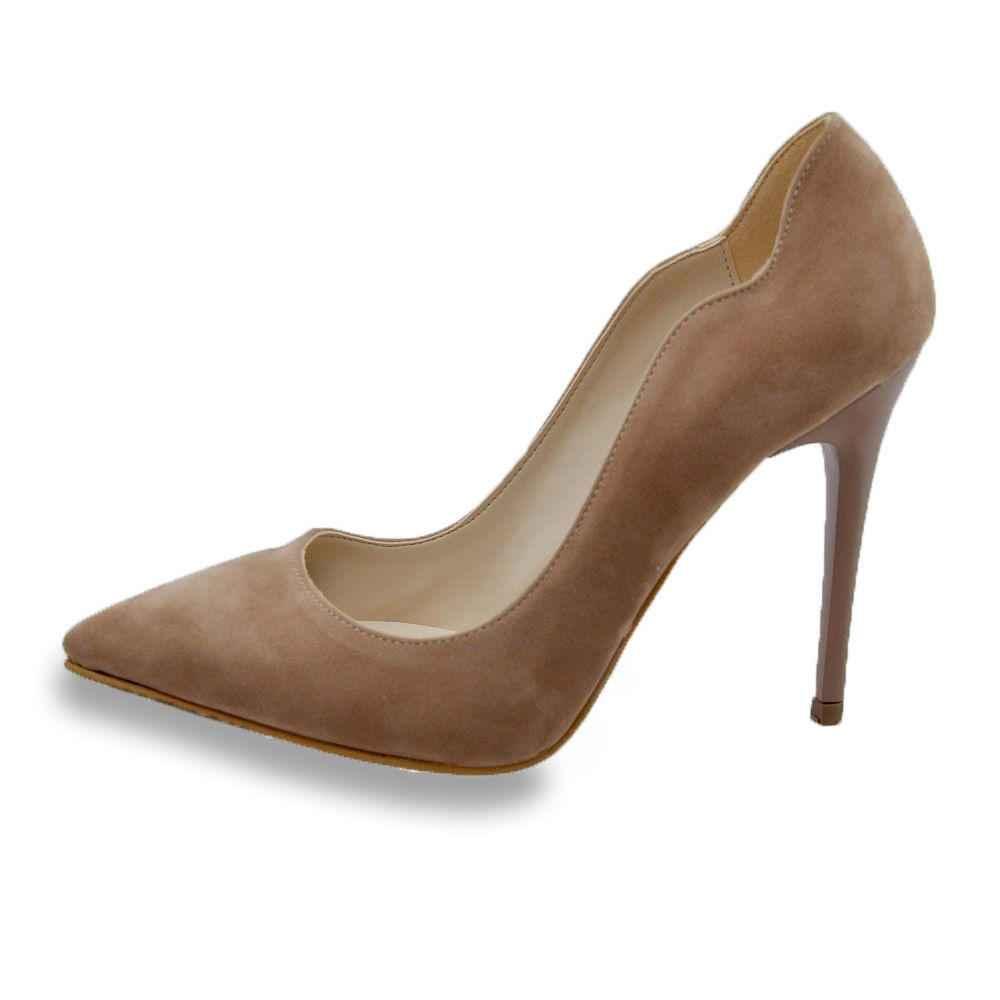 bej süet topuklu ayakkabı modelleri