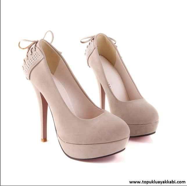 en güzel süet topuklu ayakkabı modelleri