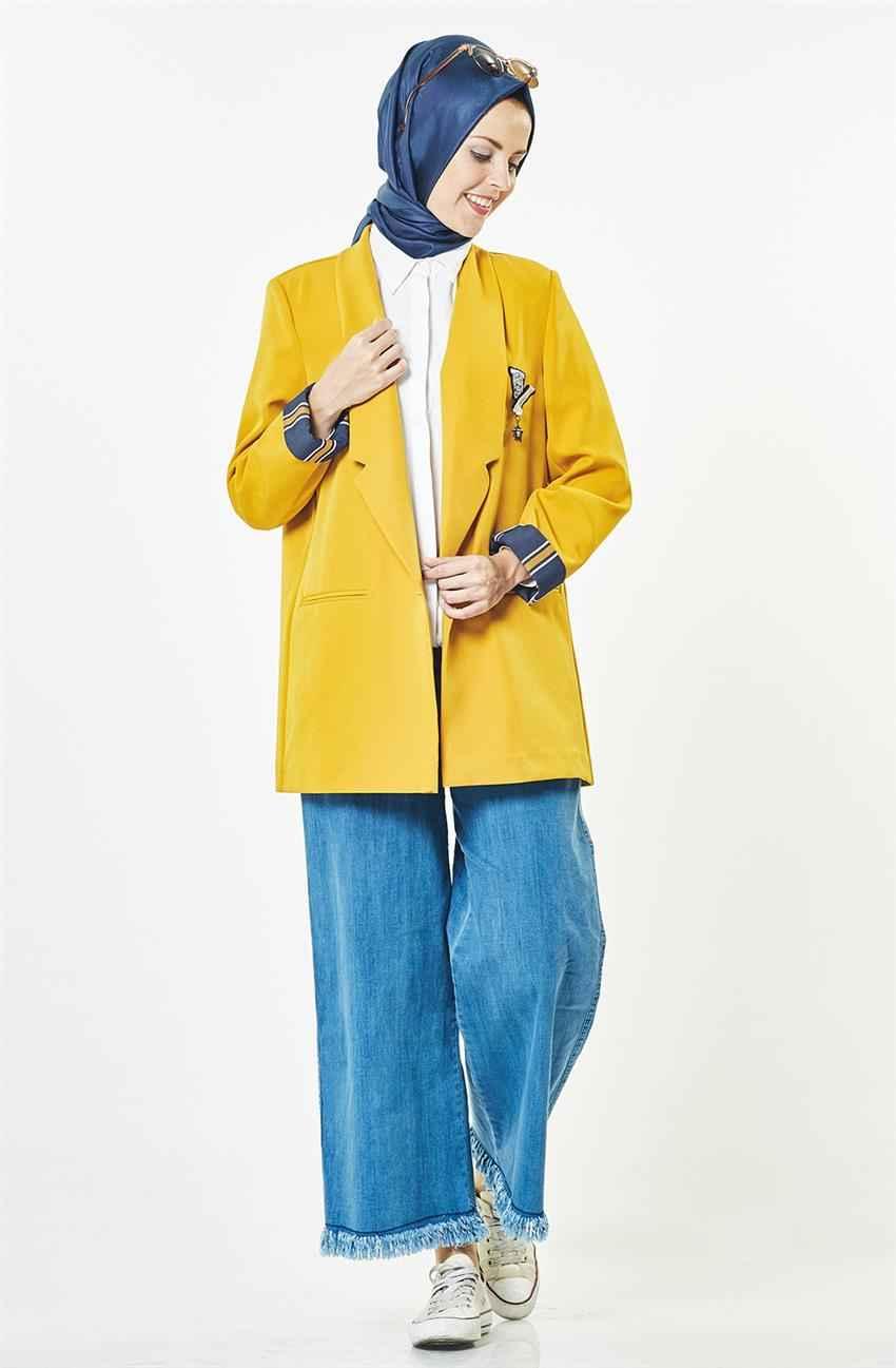 sarı tesettür ceket
