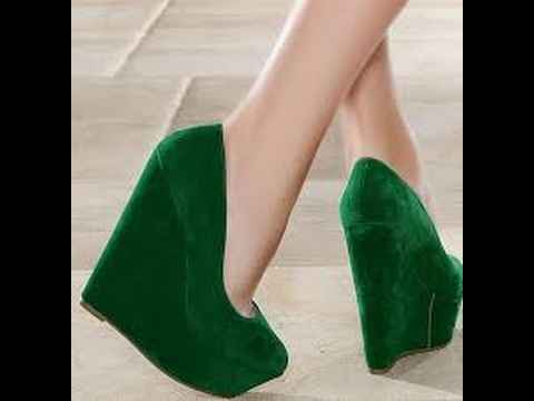 yeşil dolgu topuklu ayakkabı modelleri