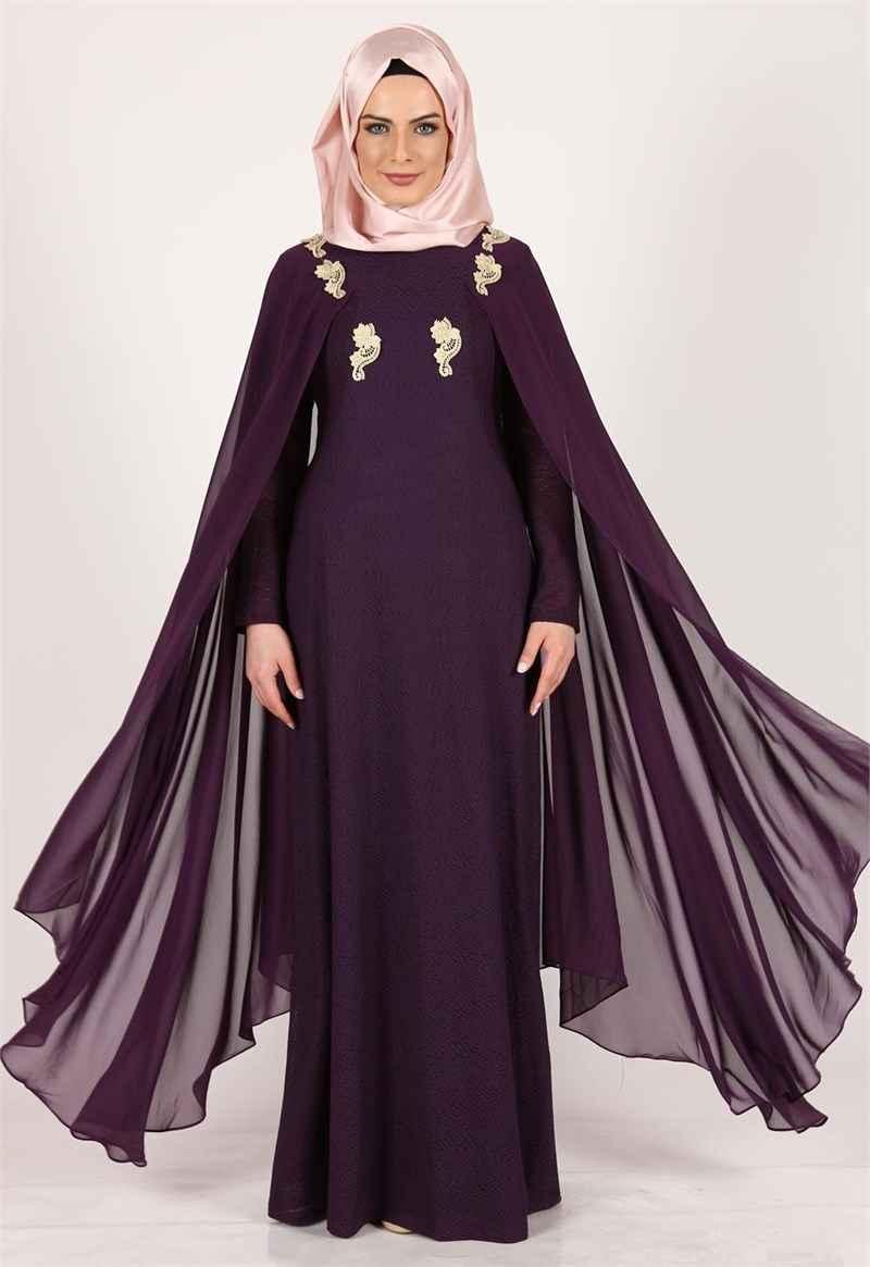 2017 tesettür pelerin elbise modelleri