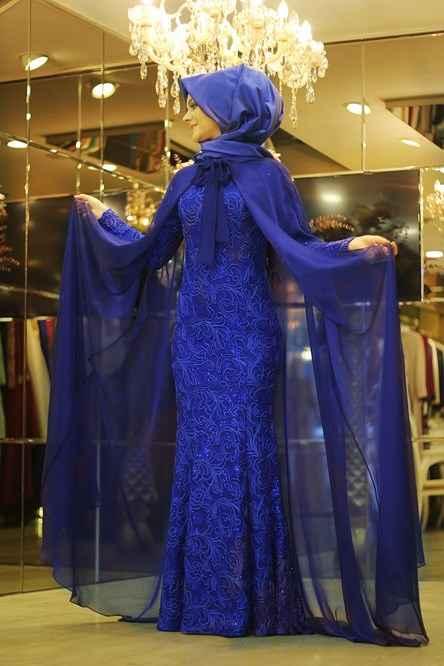 modern ve şık tesettür pelerin elbise modelleri