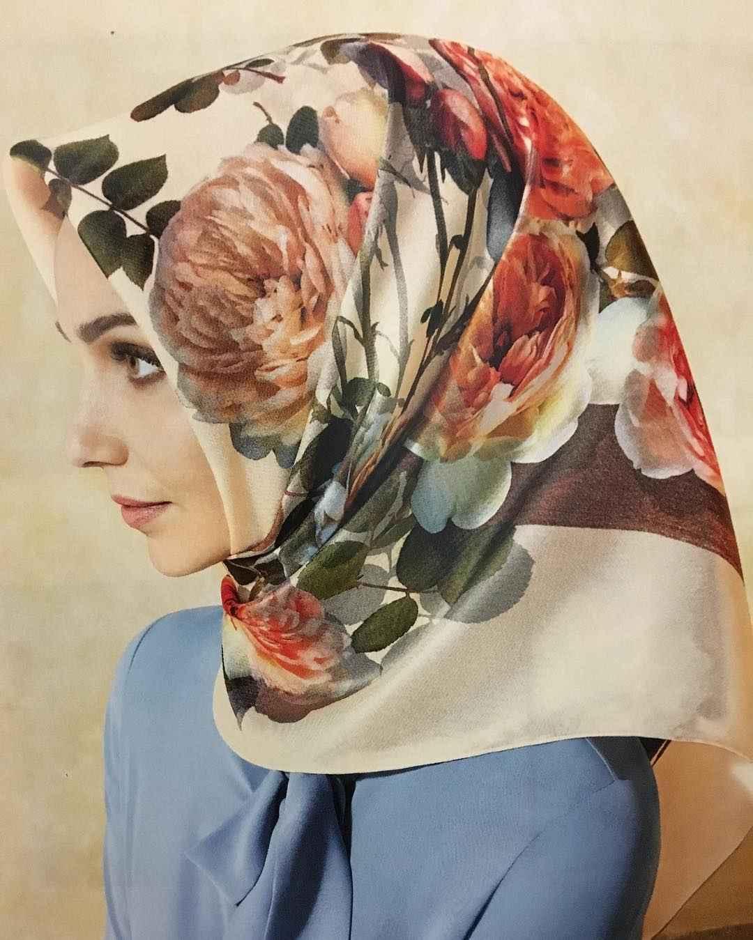 Çiçek Motifli İlkbahar-Yaz Eşarp Modelleri