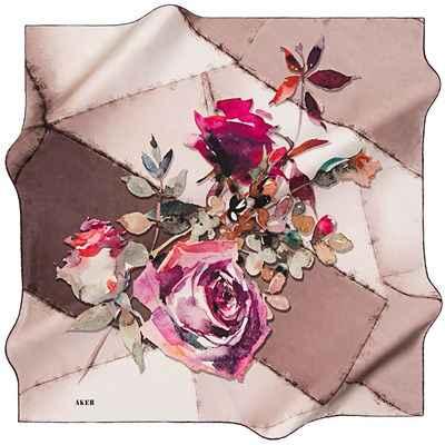 Çiçek Motifli Aker Eşarp Modelleri