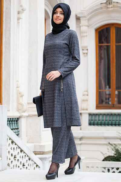 En Şık Fermuar Detaylı Sedanur Tesettür Giyim Modelleri