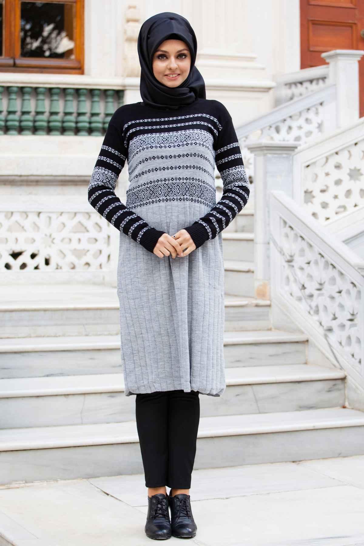 En Şık Sedanur Tesettür Triko Tunik Modelleri