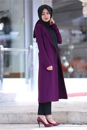 En Şık Tesettür Uzun Ceket Modelleri