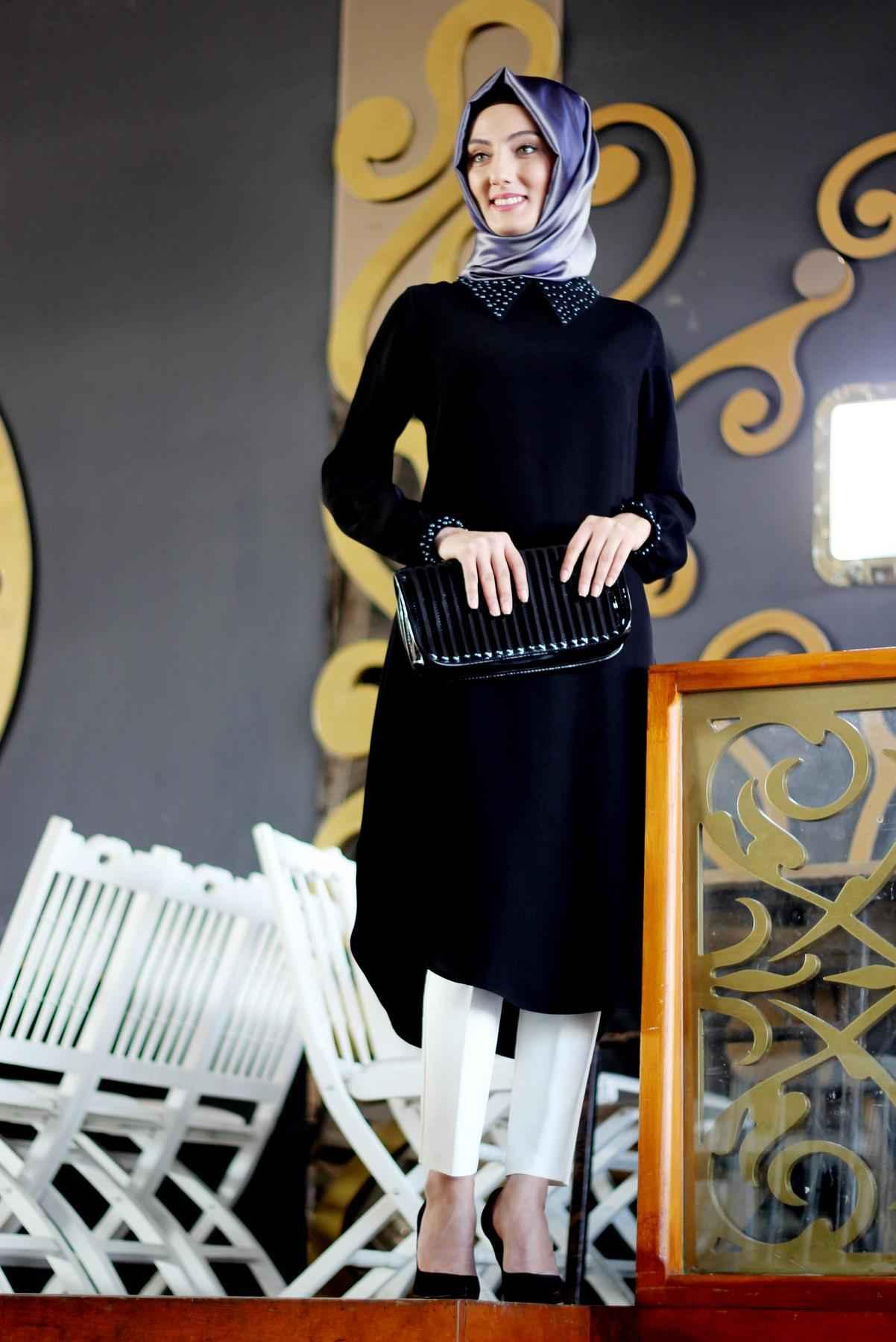 En Şık ve Güzel Patırtı Tesettür Tunik Modelleri
