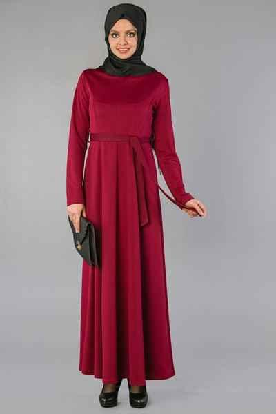 Kemerli Sedanur Tesettür Elbise Modelleri