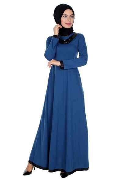 Modern Sedanur Tesettür Elbise Modelleri