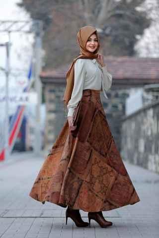 Pınar Şems Kadife Etek Modelleri