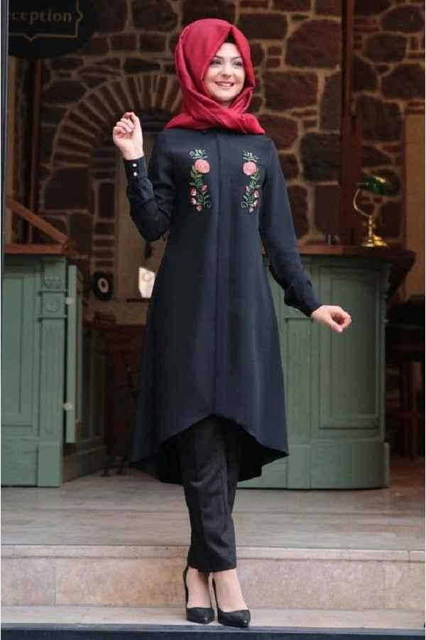 Pınar Şems Nakışlı Tunik Modelleri