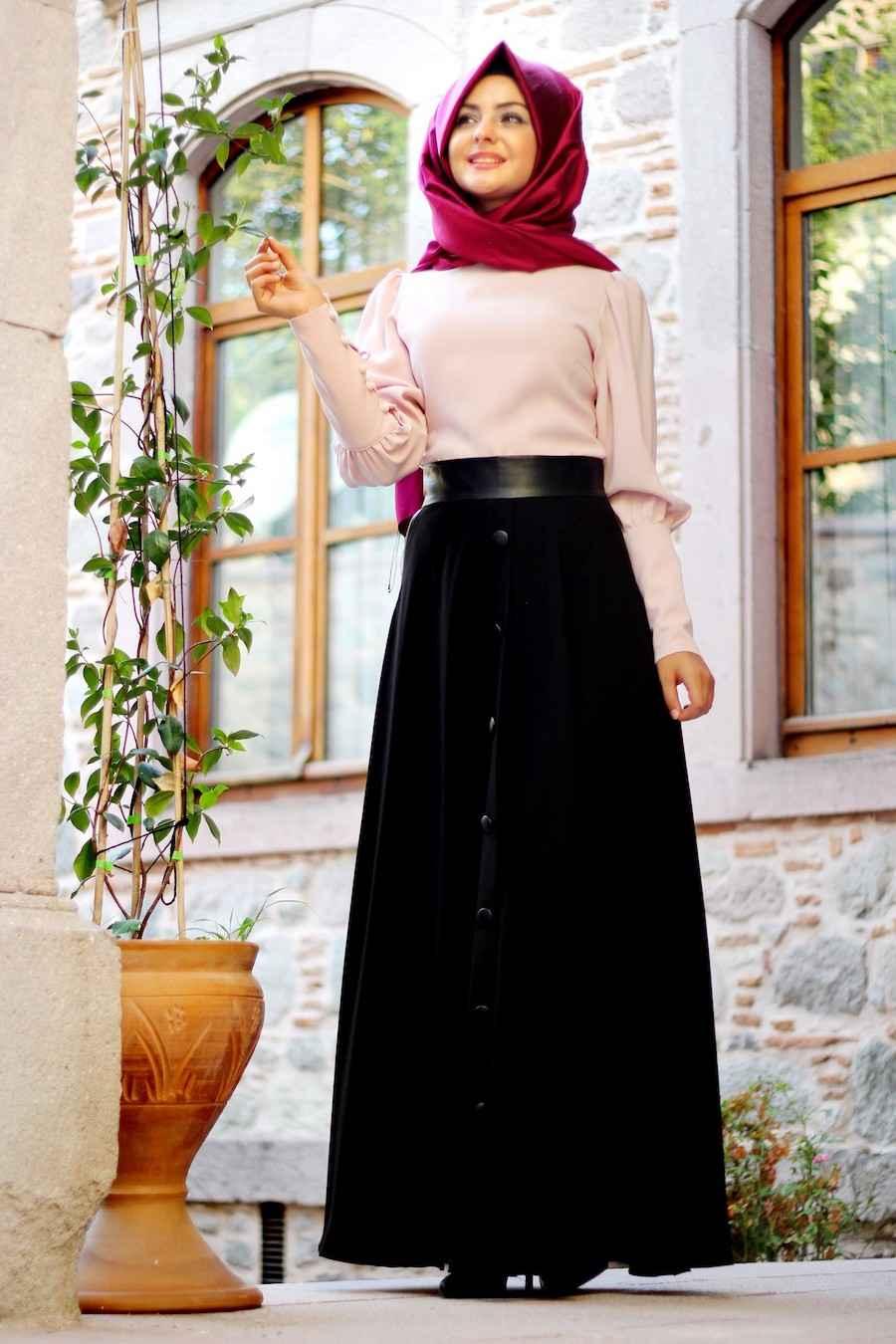 Pınar Şems Siyah Etek Modelleri