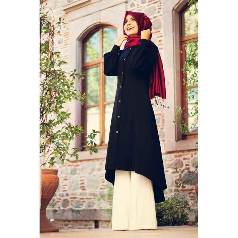 Pınar Şems Siyah Uzun Tunik Modelleri
