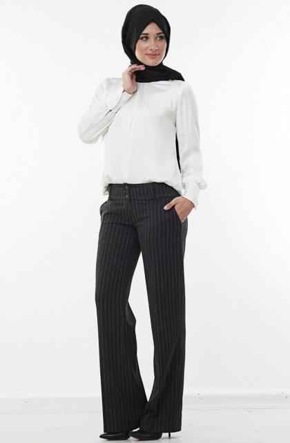 Çizgili Kumaş Pantolon Modelleri