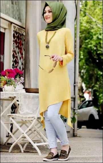 a313b27b56173 2016 Tesettür Yaz Modası Kombinleri - Moda Tesettür Giyim