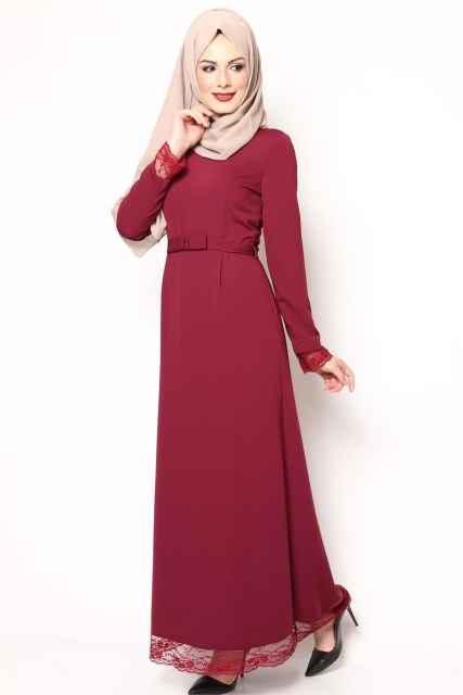 En Özel Etek Ucu Dantelli Elbise Modelleri