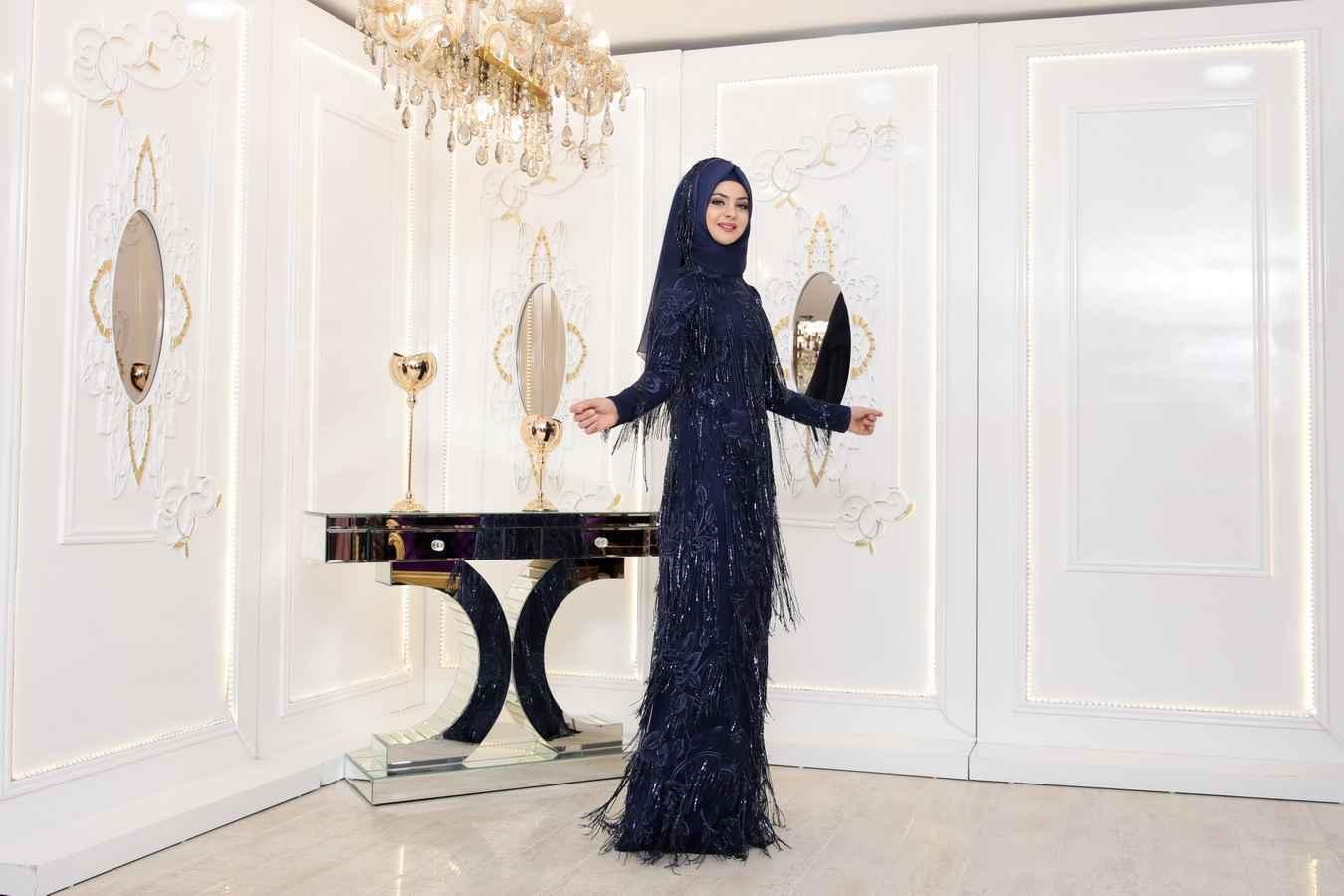 Pınar Şems Gülistan Tesettür Abiye Modelleri