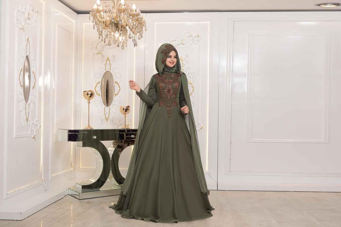 Pınar Şems Tesettür Şura Haki Abiye Modelleri