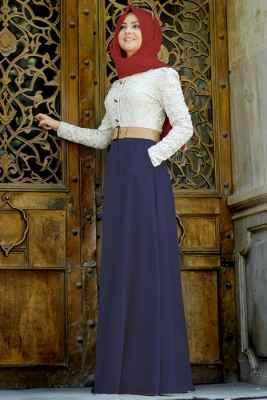 Pınar Şems Tesettür Güpürlü Elbise Modelleri