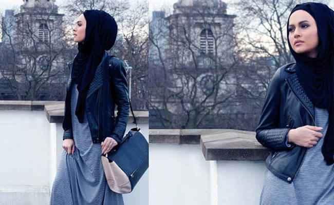86c8a0a5afee2 Tesettür Deri Ceket Modelleri - Moda Tesettür Giyim