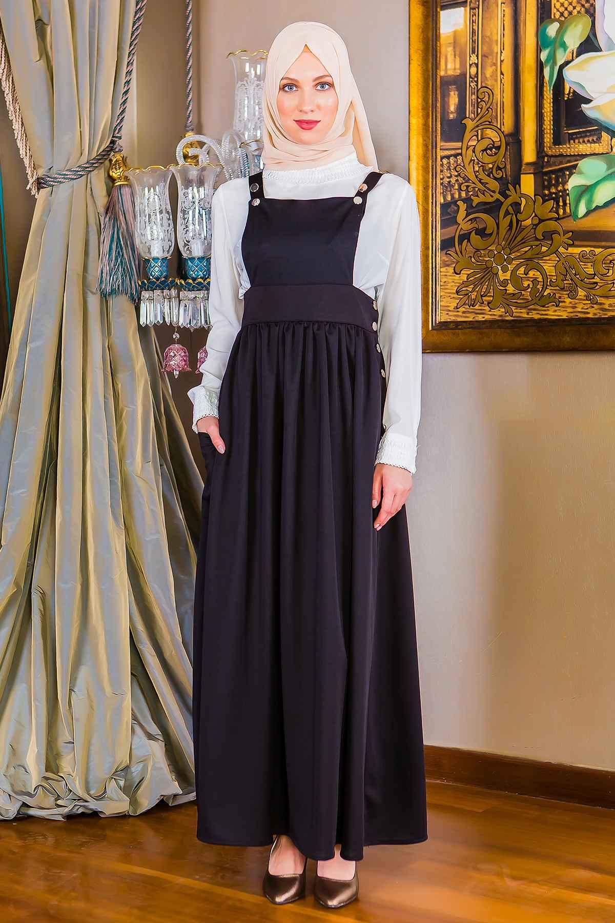 En Güzel Tesettür Bahçıvan Elbise Modelleri