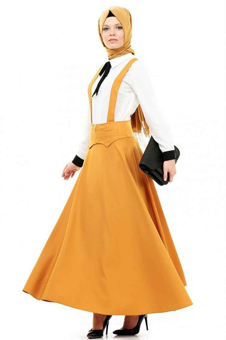 Zarif Tesettür Bahçıvan Elbise Modelleri
