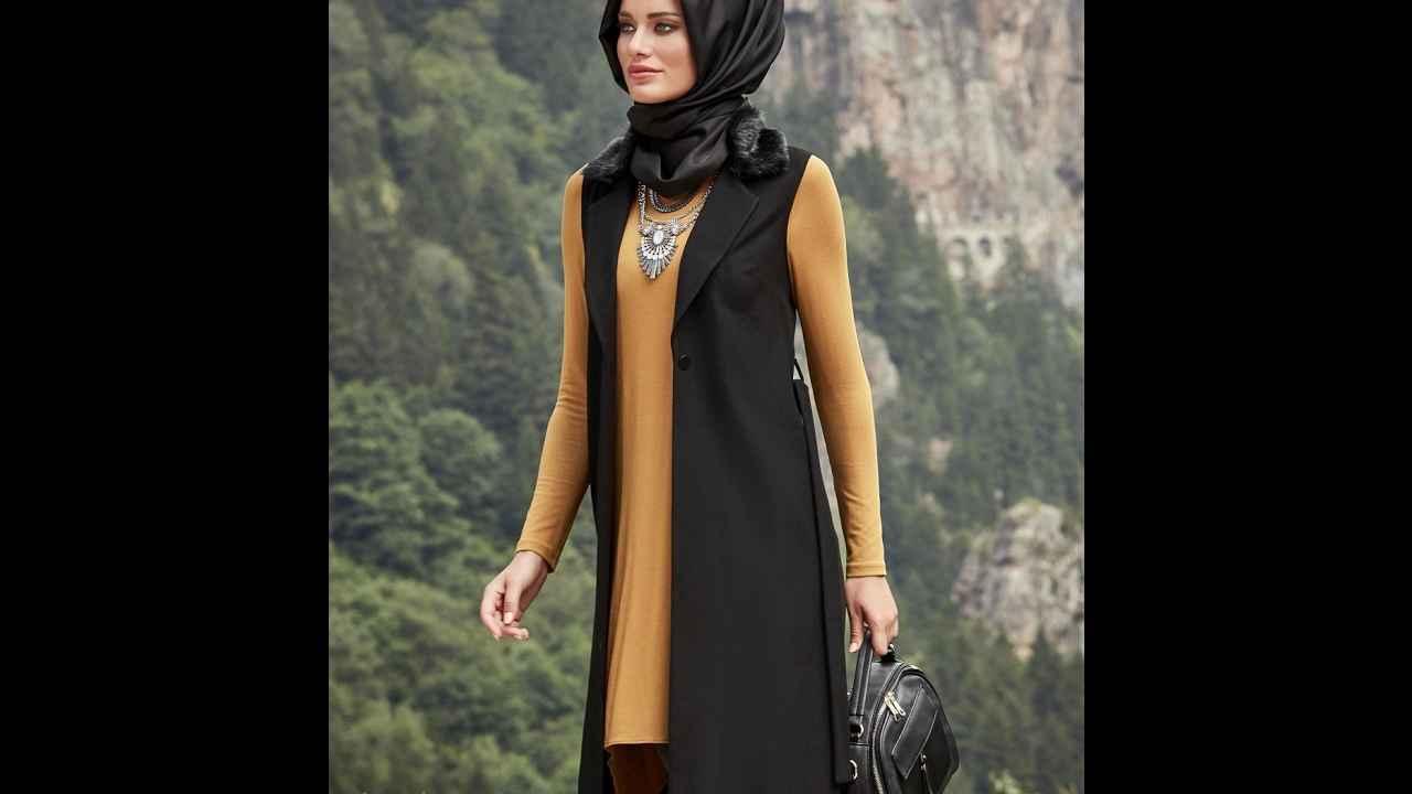 a668b83607cd1 2017 Alvina Yazlık Tesettür Yelek Modelleri - Moda Tesettür Giyim