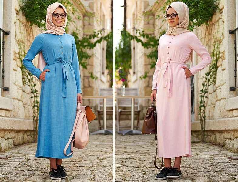 b59714e61c0a2 En Şık Yazlık Tesettür Elbise Modelleri - Moda Tesettür Giyim