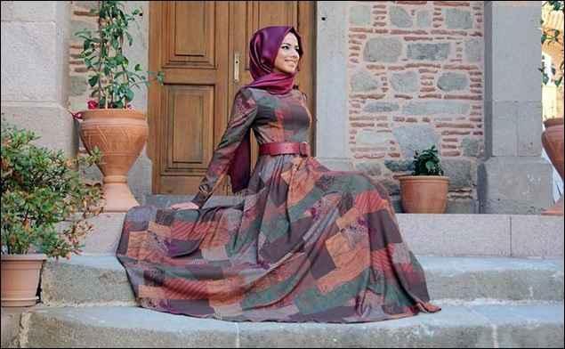 2018 Yazlık Tesettür Elbise Modelleri