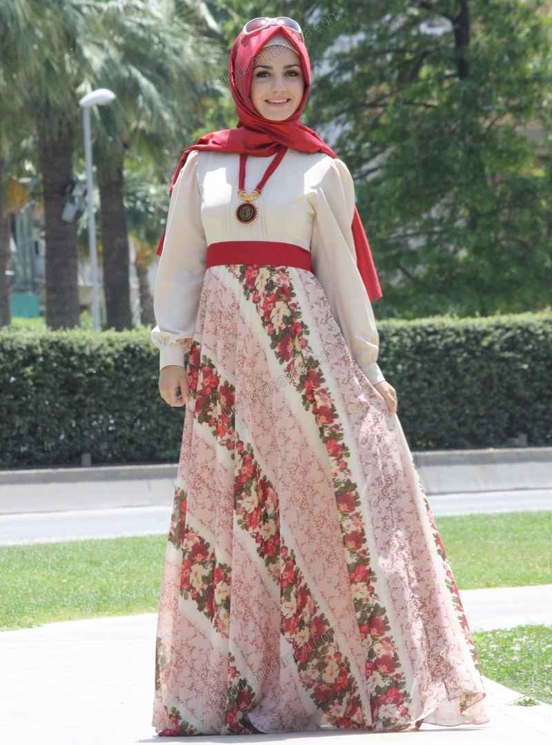 Yazlık Tesettür Elbise Kombinleri