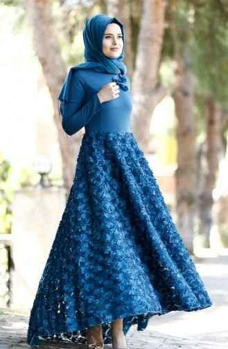 Tesettür Kuyruklu Abiye Elbise Modelleri