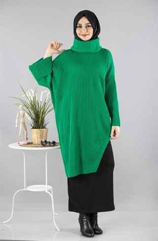 Çıkarılabilir Yaka Tesettür Triko Tunik Modelleri